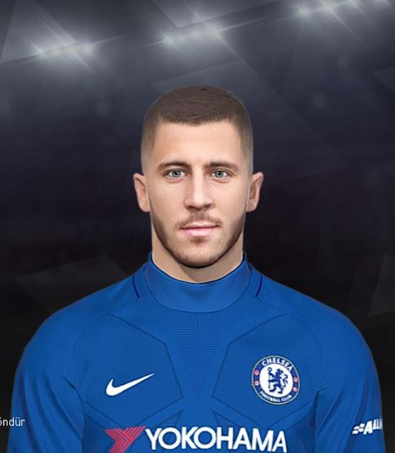 Eden Hazard Face PES 2018