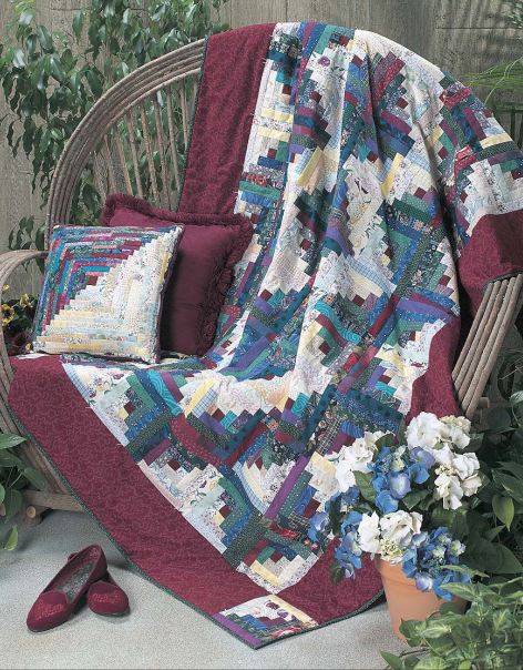 Diamonds in the Middle Quilt designed by Ruth Swasey of FreePatterns