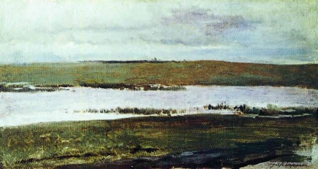 Исаак Ильич Левитан - Река. 1890-е