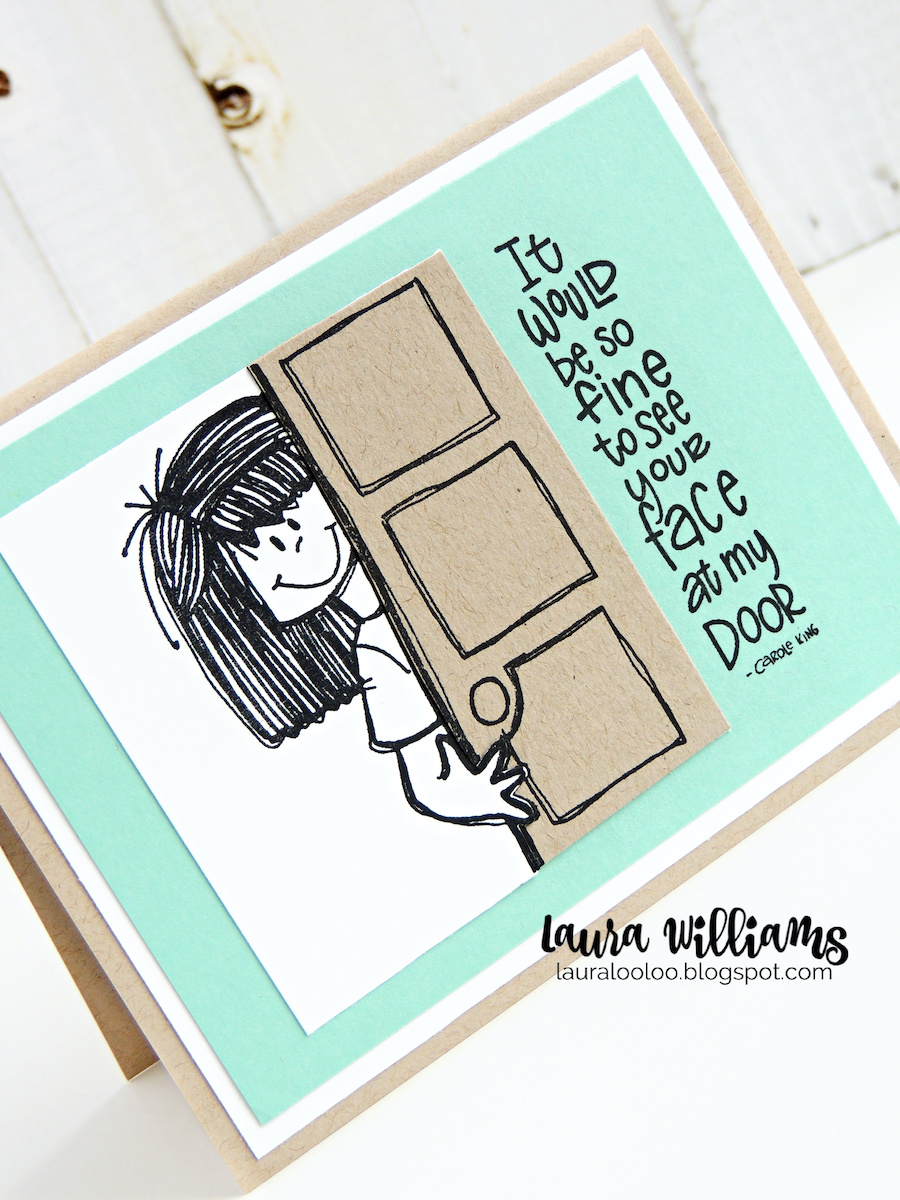 It would be so fine to see your face at my door. Look at this cute stamp and sentiment from Impression Obsession - the perfect handmade card idea for social distancing and to say I MISS YOU to a friend or loved one. Make cards handmade with rubber stamping and visit my blog to see more ideas with these sweet rubber stamps
