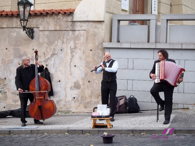czech republic prague castle musicians performing