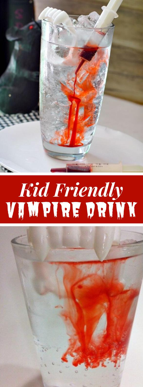 Kid-Friendly Halloween Vampire Drink #holidayrecipes #partydrinks