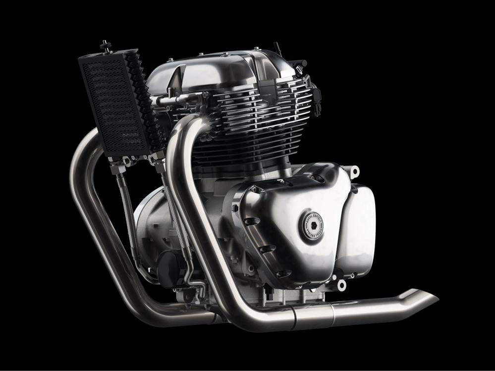 Motorcycle motor.