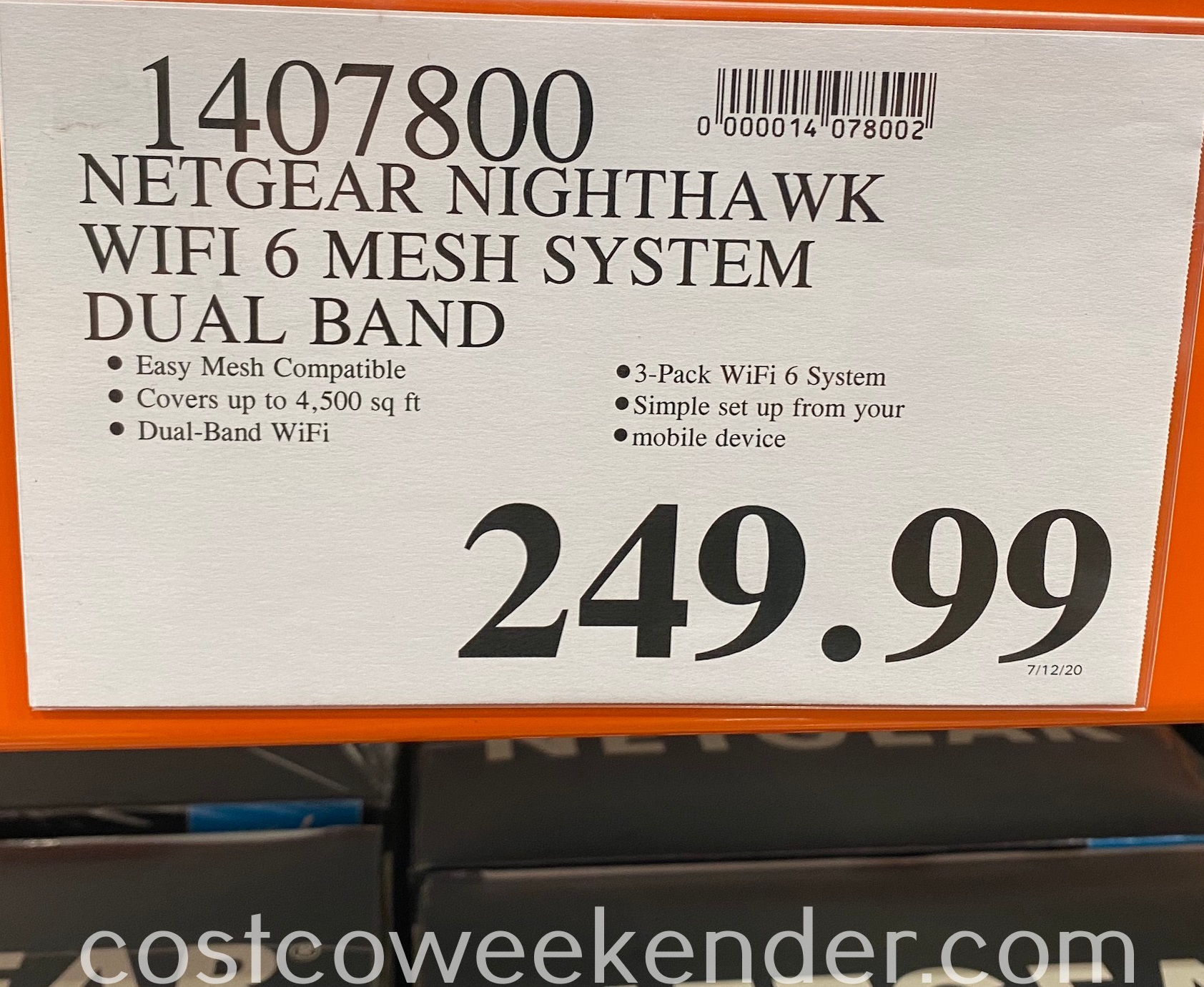 Deal for the Netgear Nighthawk Mesh WiFi 6 System at Costco
