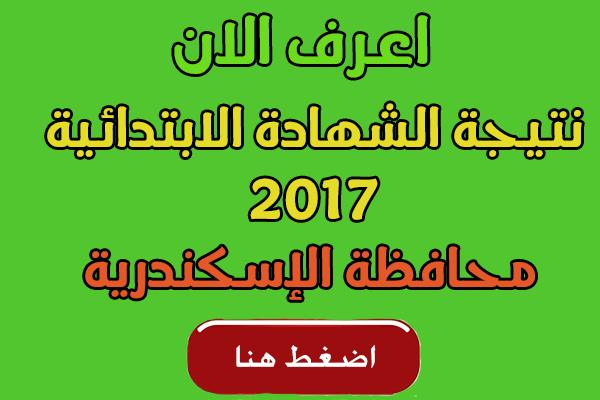 نتيجة الشهادة الابتدائية 2017 محافظة الإسكندرية