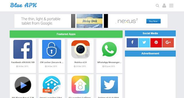 Blue APK - Template Blog Download Aplikasi