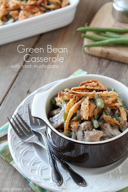 Green Bean Casserole with Fresh Mushrooms Recipe