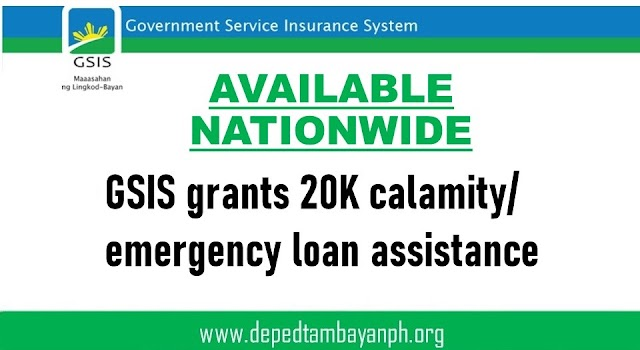 GSIS grants 20K calamity loan assistance nationwide