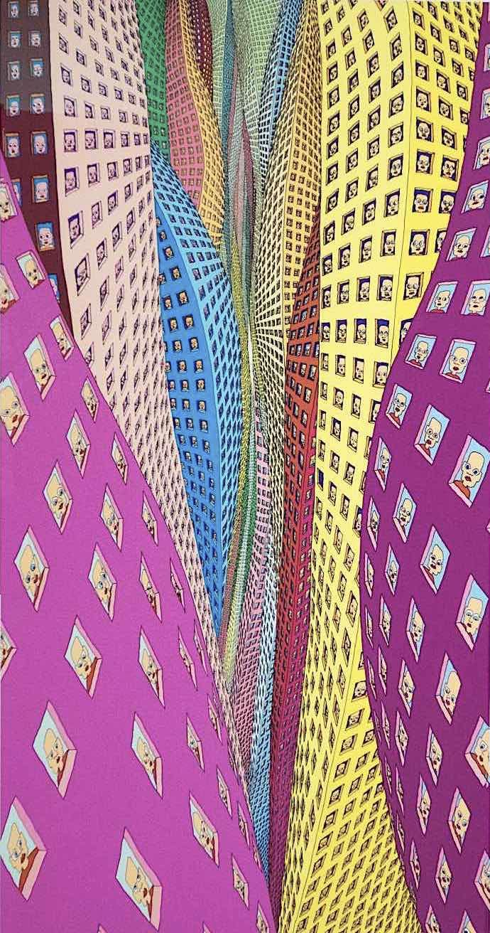 Pushwagner art, urban living
