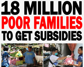 DSWD to give 5k-8k pesos to 18 million families