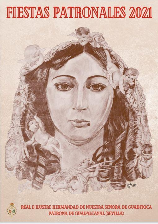 Cartel anunciador de las Fiestas Patronales de Nuestra Señora de Guaditoca 2021 de Guadalcanal