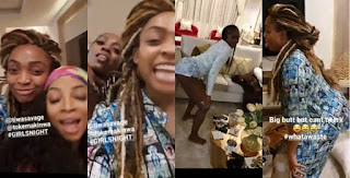 kay's report: Tiwa Savage, Toke Makinwa And Davido's Sister, Sharon Engage In Twerking Competition (Video)