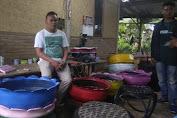Dukung Program Zero Waste, Pemuda Barabali Ubah Ban Bekas jadi Barang Bernilai.