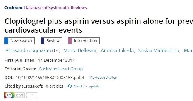 Taupadak : Clopidogrel más aspirina versus aspirina sola