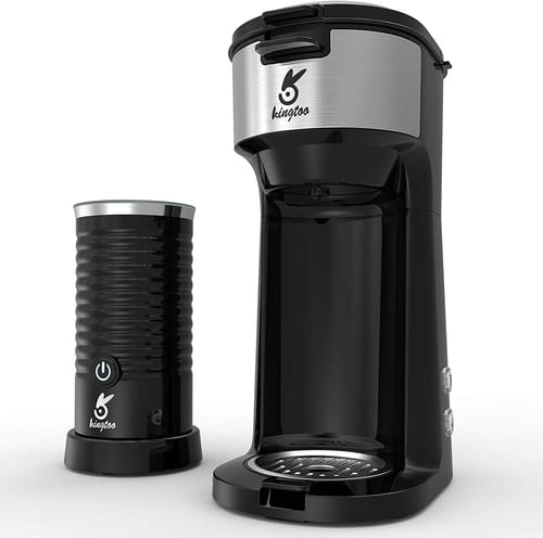 KINGTOO Coffee Machine with Milk Frother