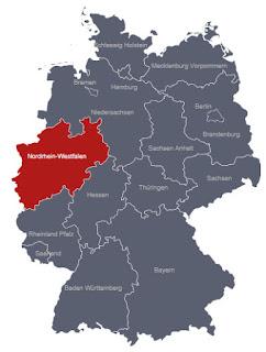 Mapa Nordrhein-Westfalen