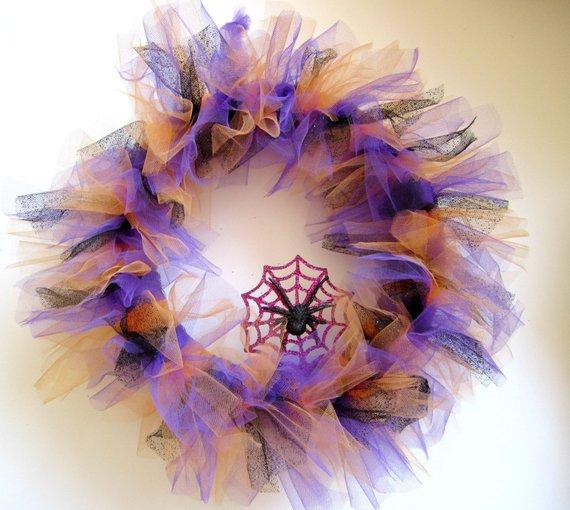 Halloween- tulle - wreath