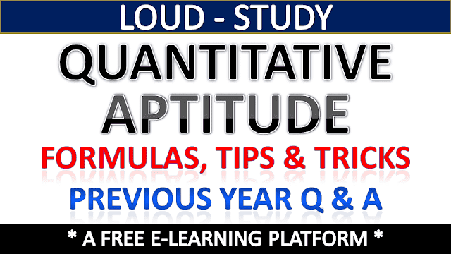 Quantitative Aptitude Study Materials for Competitive Exams
