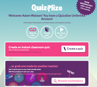 Quizalize teacher