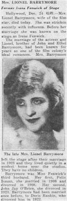 Irene Fenwick Dead
