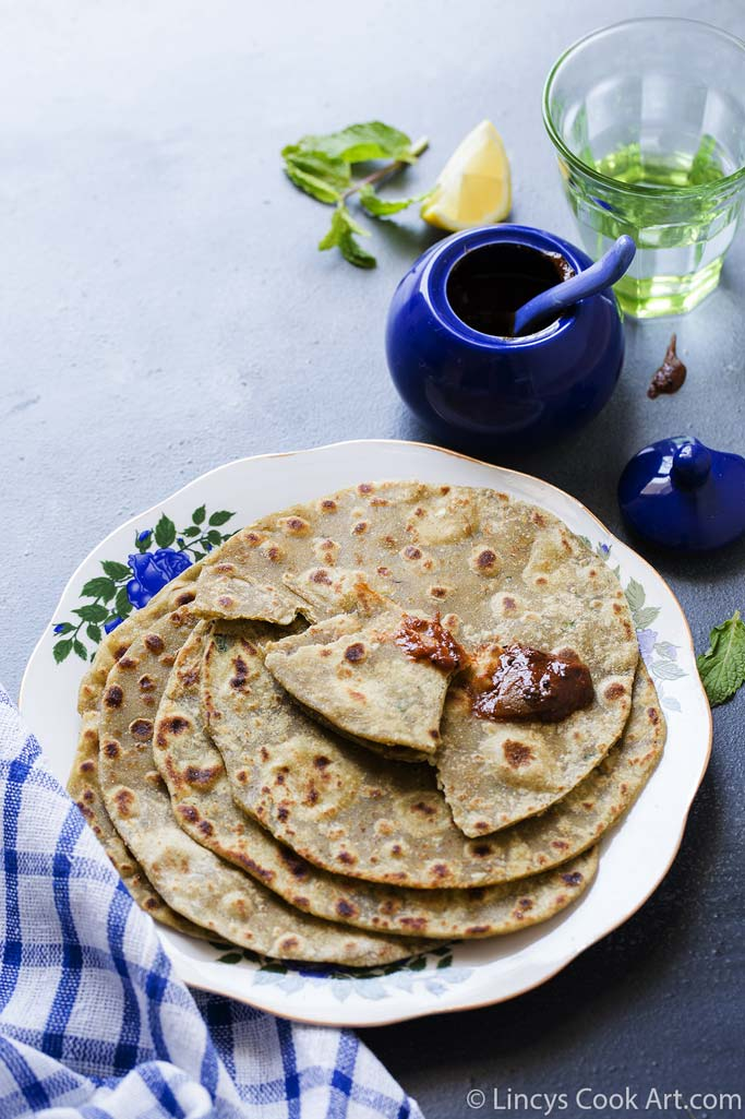 healthy avocado parathas
