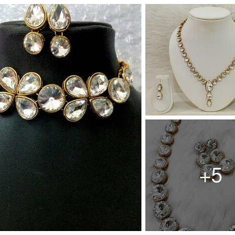 Necklace set with ear rings