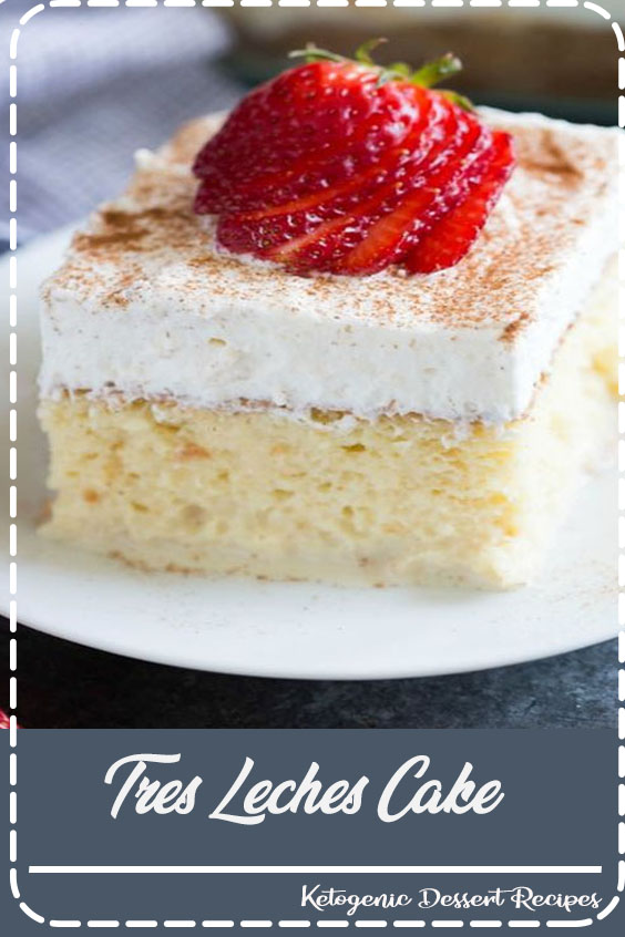 The BEST authentic Tres Leches Cake. An ultra light cake soaked in a sweet milk mixture and topped with fresh whipped cream and cinnamon. This simple Mexican dessert is one of our favorites!