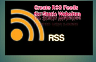 Create RSS feeds for statics website