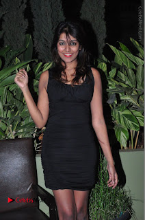 Actress Kavya Kumar Stills in Black Short Dress at F Club pre soft Launch  0027.JPG