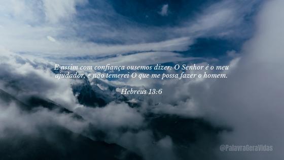 Top 10 Versículos Bíblicos - Hebreus 13.6