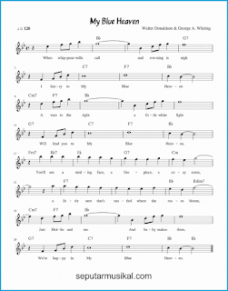 chord my blue heaven lagu jazz standar