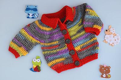 3 - Crochet Imagen Chaqueta a crochet para niño niña muy fácil y rápido por Majovel Crochet
