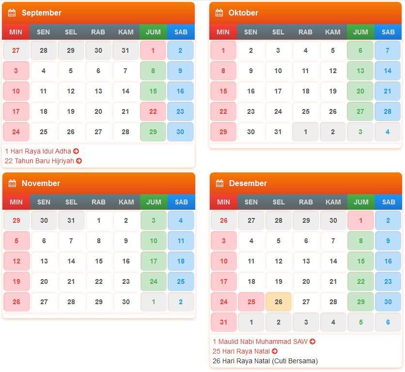 Download Tanggal Hari Dalam Kalender 2017 - 2018 Indonesia