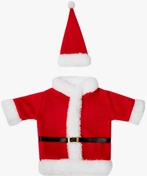Adorno para vestir las botellas de Navidad de Primark