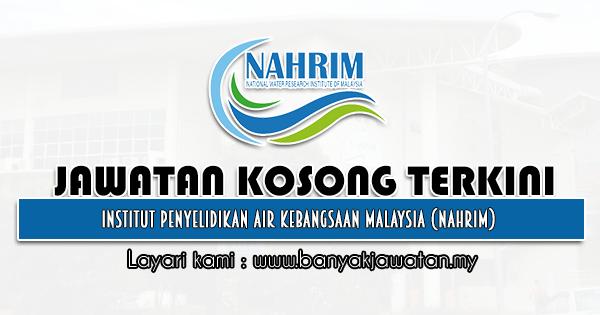 Jawatan Kosong Kerajaan 2021 di Institut Penyelidikan Air Kebangsaan Malaysia (NAHRIM)