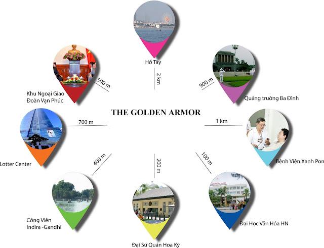Vị trí đắc địa của dự án The Golden Armor
