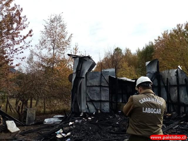 Fuego destruye vivienda en el sector Coñaripe