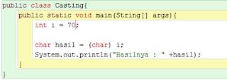Belajar Java : Type Casting