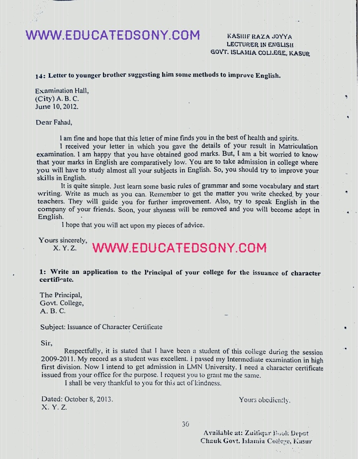 11th class english (1st year,fsc part 1) important