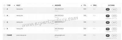 Domain Name system settings