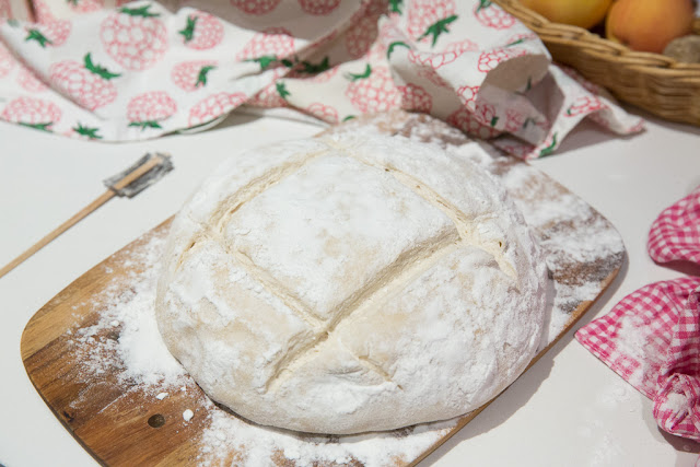 perusleivän voi viiltää rustiikkisesti