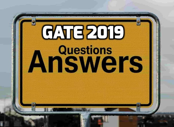 Official Gate 2019 Answer Key Solutions And Question Paper Download