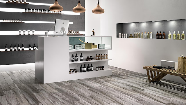 Italian porcelain tile for home bar with PLUS collection