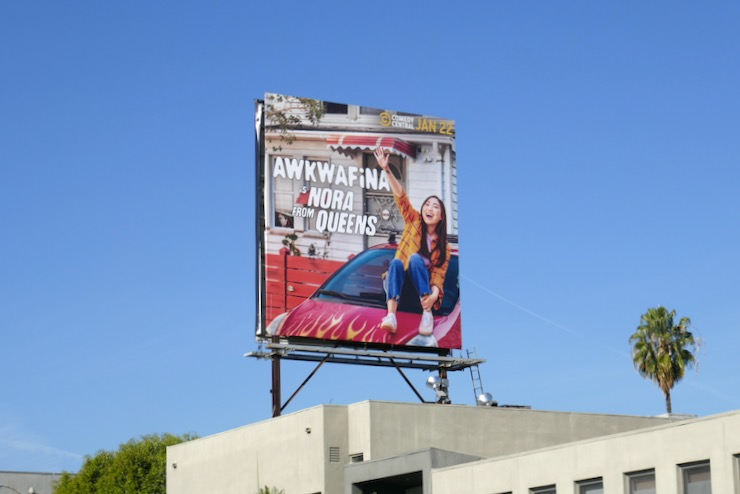 Awkwafina is Nora from Queens billboard