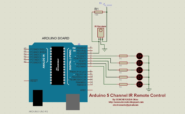 arduino rc5 ir remote control channel arduino code