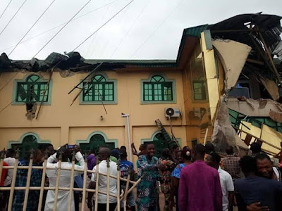 PHOTOS: Yinka Ayefele's Building Demolished By Oyo Government