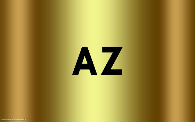 Gouden AZ wallpaper