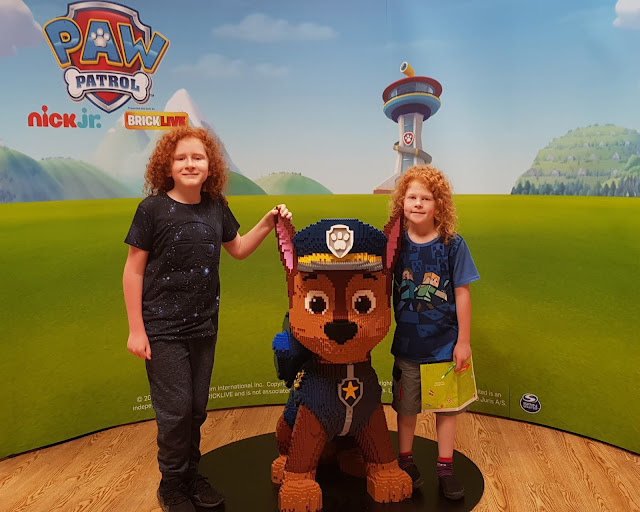 Blackburn Mall #Brickburn Paw Patrol LEGO Trail Debenhams upstairs near cafe photo opportunity with Chase