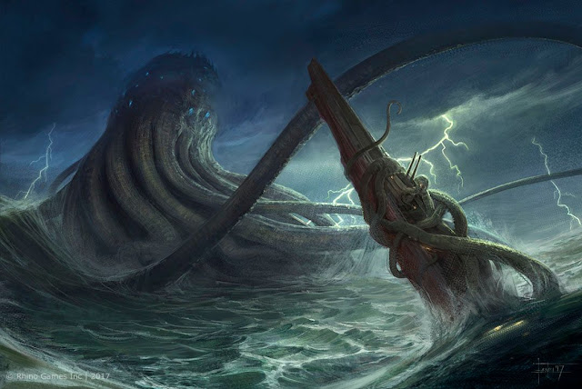 الكـراكن,حبّار عملاق,أساطيـر,النـرويج,سفن,بحار,محيطات