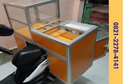 Gerobak Motor Jualan Bakso / Etalase Motor Dagang / Etalase Keliling